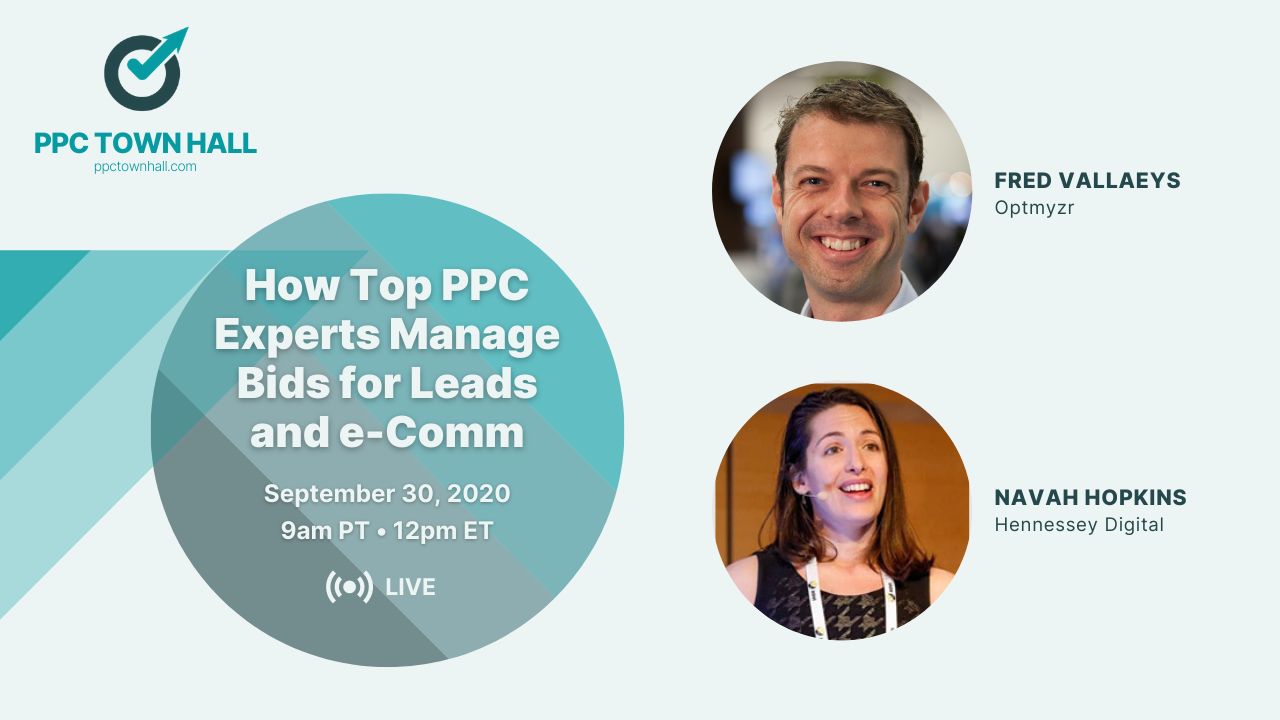 PPC Town Hall 23 - Bid Management