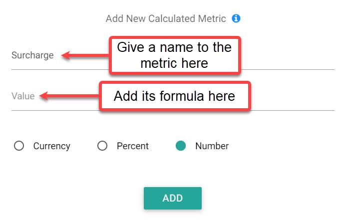 mcc dashboard surcharge metric